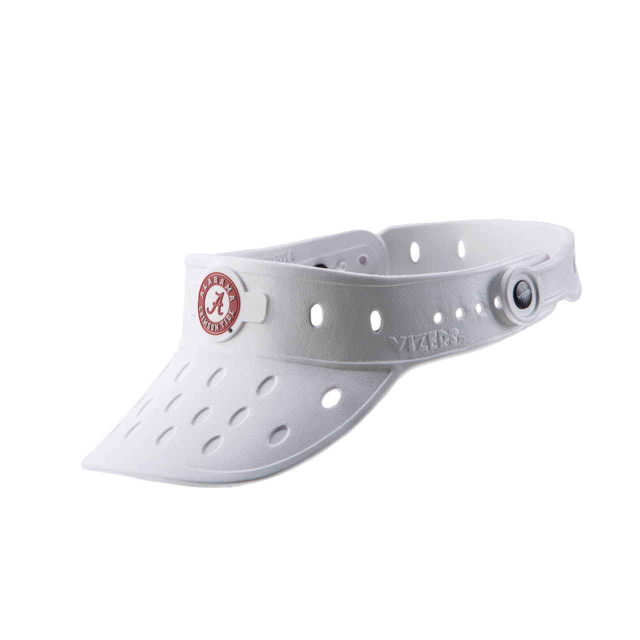 "Alabama ""Circle"" Logo on White Vizer"